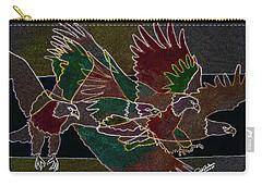 Bald Eagle Contours Carry-all Pouch