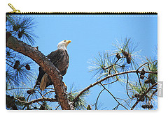 Carry-all Pouch featuring the photograph Bald Eagle by Geraldine DeBoer