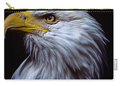 Carry-all Pouch featuring the photograph Bald Eagle by Jeff Goulden