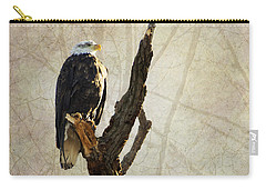 Bald Eagle Keeping Watch In Illinois Carry-all Pouch