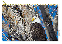 Carry-all Pouch featuring the photograph Bald Eagle by Michael Chatt