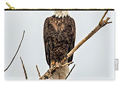 Bald Eagle On A Branch Carry-all Pouch