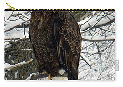 Carry-all Pouch featuring the photograph Bald Eagle by Penny Meyers