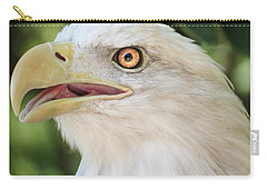 Carry-all Pouch featuring the photograph American Bald Eagle Portrait - Bright Eye by Patti Deters