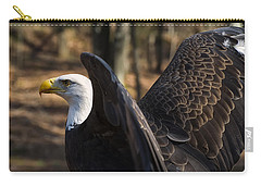 Bald Eagle Preparing For Flight Carry-all Pouch by Chris Flees