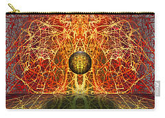 Carry-all Pouch featuring the digital art Ball And Strings by Otto Rapp