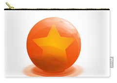 Carry-all Pouch featuring the sculpture orange Ball decorated with star white background by R Muirhead Art