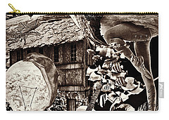 Carry-all Pouch featuring the mixed media Ballerina Dreams by Ally  White