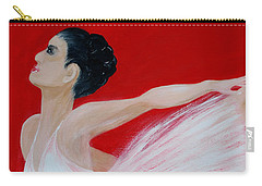 Ballerina.  Grace. Inspirations Collection Carry-all Pouch by Oksana Semenchenko