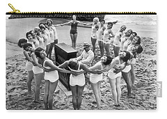 Ballet Rehearsal On The Beach Carry-all Pouch by Underwood Archives