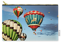 Carry-all Pouch featuring the photograph Balloons Away by Dave Files