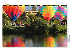 Carry-all Pouch featuring the photograph Balloons Over Bend Oregon by Kevin Desrosiers