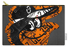 Baltimore Orioles Vintage Baseball Logo License Plate Art Carry-all Pouch