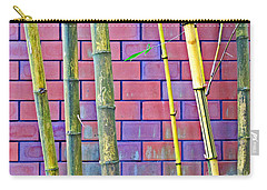 Bamboo And Brick Carry-all Pouch by Ethna Gillespie