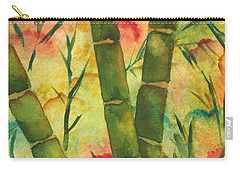 Carry-all Pouch featuring the painting Bamboo Garden by Chrisann Ellis