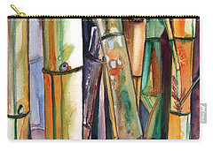 Carry-all Pouch featuring the painting Bamboo Garden by Marionette Taboniar
