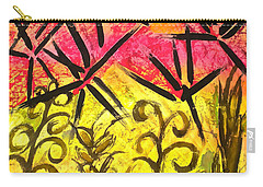 Carry-all Pouch featuring the painting Bamboo In The Wind by Joan Reese