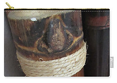 Bamboo Node On Rain Stick Carry-all Pouch