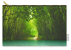 bamboo path to  Blue Lagoon  Carry-all Pouch