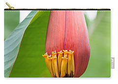 Carry-all Pouch featuring the photograph Banana Flower Closeup by Dan McManus