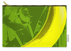 Carry-all Pouch featuring the digital art Banana Pop Art by Jean luc Comperat