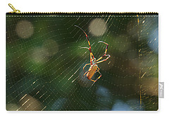 Banana Spider In Web Carry-all Pouch