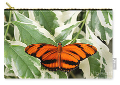 Banded Orange Longwing Butterfly Carry-all Pouch by Judy Whitton