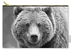 Banff Grizzly In Black And White Carry-all Pouch