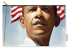 Barack Obama Artwork 1 Carry-all Pouch by Sheraz A