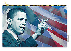 Barack Obama Artwork 2 Carry-all Pouch by Sheraz A