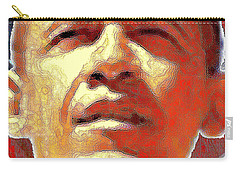 Barack Obama American President - Red White Blue Portrait Carry-all Pouch