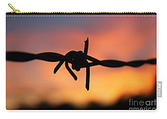 Carry-all Pouch featuring the photograph Barbed Silhouette by Vicki Spindler