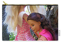 Carry-all Pouch featuring the photograph Barbie's Climbing Trees by Nina Silver