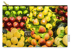 Carry-all Pouch featuring the photograph Barcelona Market Fruit by Steven Sparks