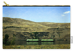 Barges On The Columbia Carry-all Pouch by Michelle Calkins