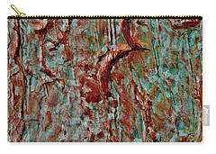 Carry-all Pouch featuring the digital art Bark Layered by Stephanie Grant