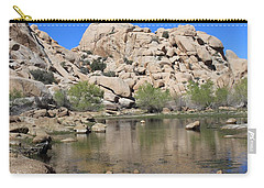 Carry-all Pouch featuring the photograph Barker Dam by Amy Gallagher