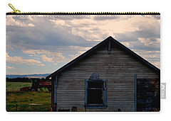 Carry-all Pouch featuring the photograph Barn And Tractor by Matt Harang