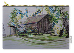 Old Barn At Wason Pond Carry-all Pouch by Sean Connolly
