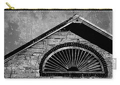 Barn Detail - Black And White Carry-all Pouch