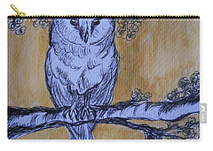 Carry-all Pouch featuring the painting Barn Owl by Teresa White
