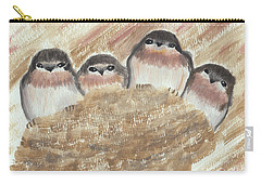 Barn Swallow Chicks Carry-all Pouch