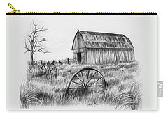 Barn With Crows Carry-all Pouch