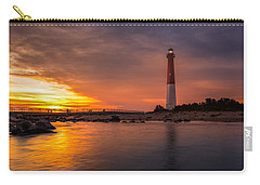 Barnegat Sunset Light Carry-all Pouch by Mihai Andritoiu