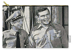 Barney Fife And Andy Taylor Carry-all Pouch