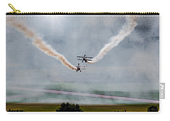 Carry-all Pouch featuring the photograph Barnstormer Late Afternoon Smoking Session by Chris Lord