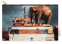 Barnum And Baileys Fabulous Road Trip Vacation Across The Usa Circa 2013 5d22705 With Text Carry-all Pouch