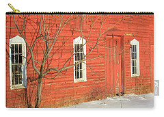 Carry-all Pouch featuring the photograph Barnwall In Winter by Rodney Lee Williams