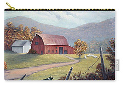 Carry-all Pouch featuring the painting Barnyard Sentinel by Fran Brooks