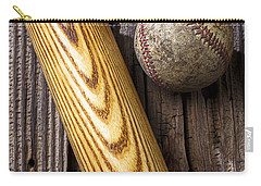 Baseball Bat And Ball Carry-all Pouch by Garry Gay